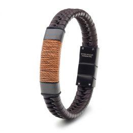 Steelwear Herren Armband Leder Braun