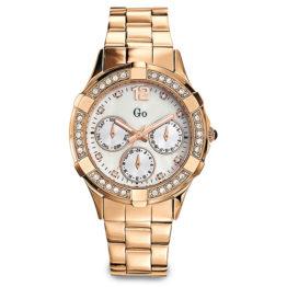 Go Sportliche Damen-Armbanduhr in Edelstahl Rosé mit Perlmuttzifferblatt und Multifunktion-Nachbildung