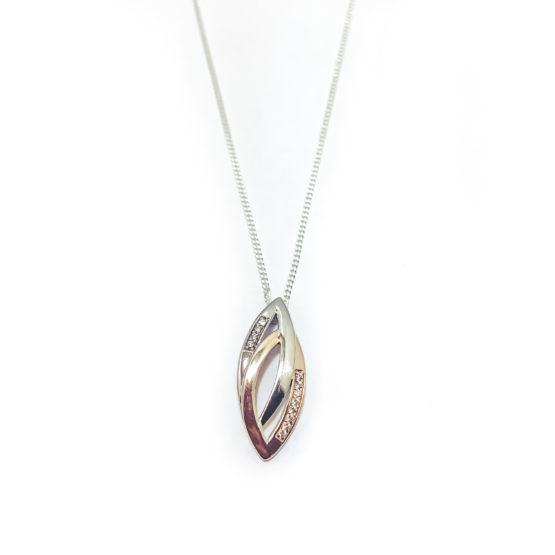 Collierkette Silber/Rosé Zirkonia