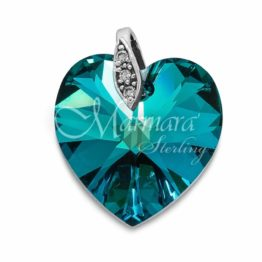 Marmara Anhänger Bermuda Blau Swarovski Kristalle