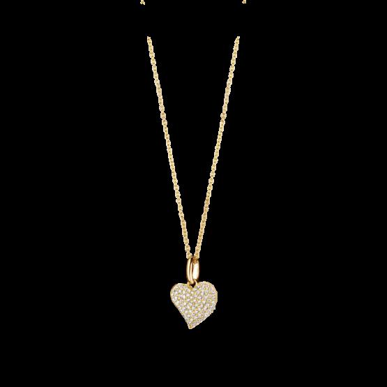 Spirit Icons Herz Sparkling Collection Gelbgold vergoldet mit Zirkonia gefasst 10042-45