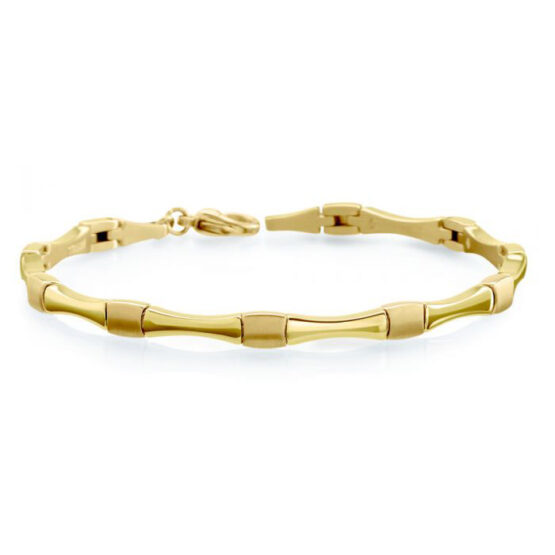 Boccia Titan Armband Gelb vergoldet