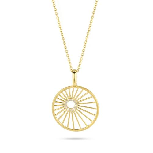 Spirit Icons Halskette Aura Silber Gelbvergoldet