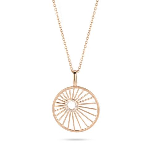 Spirit Icons Halskette Aura Silber Rosévergoldet