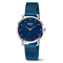 Boccia Titan Damen Armbanduhr Azurblau