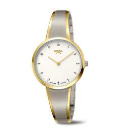 Boccia Titan Damen Armbanduhr Bicolor
